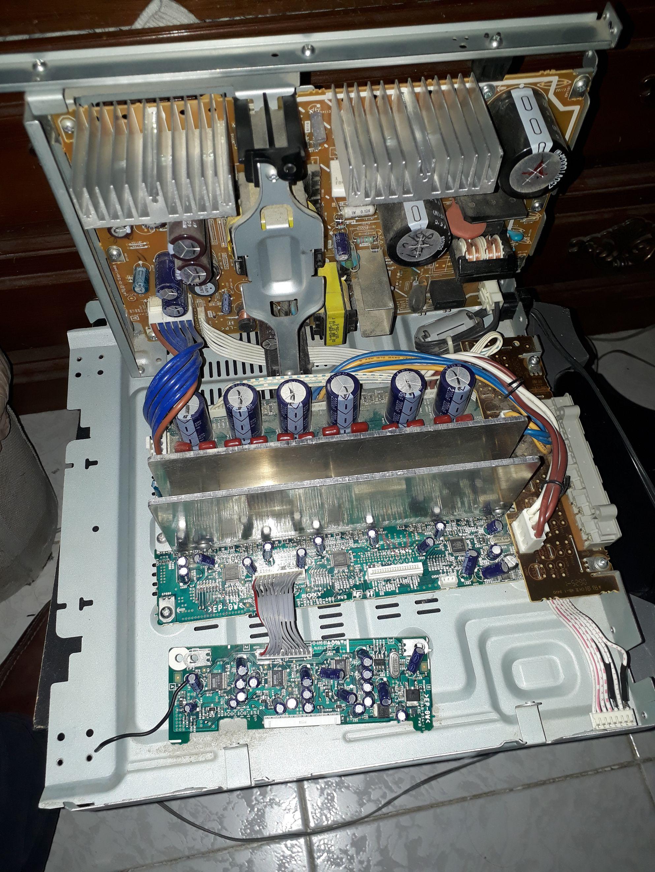 reciclar o reutilizar amplificador y fuente de sony genezi