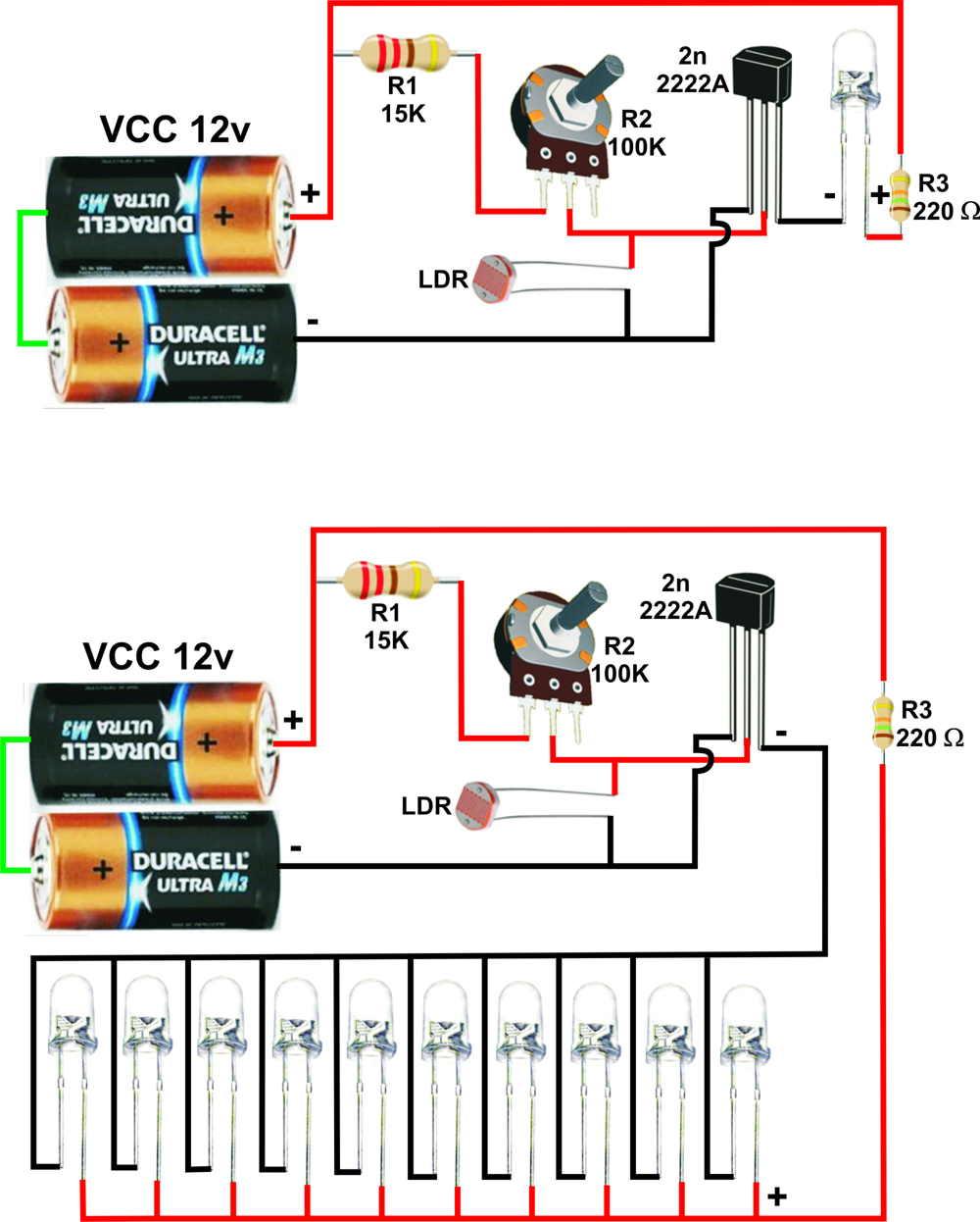 Circuito Paralelo : Solucionado conectar leds en paralelo electrónica y diseño